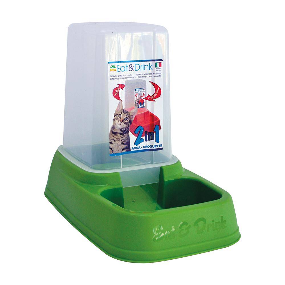Distributore acqua e cibo viridia for Cibo tartarughe acqua